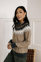 Vero Moda Fair Isle Sweater in Mocha