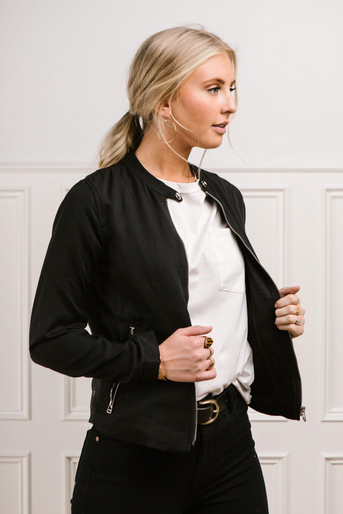 Aubrey Moto Jacket in Black