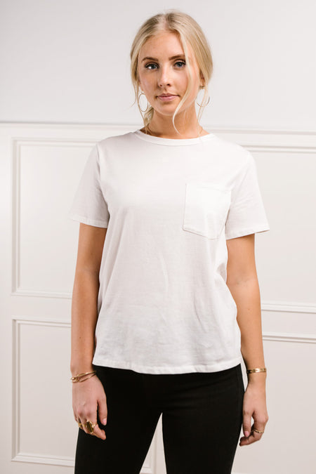 Mallory Pocket Tee in White