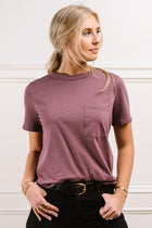Mallory Pocket Tee in Mauve