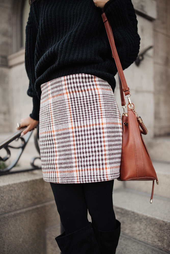 Molly Plaid Mini Skirt