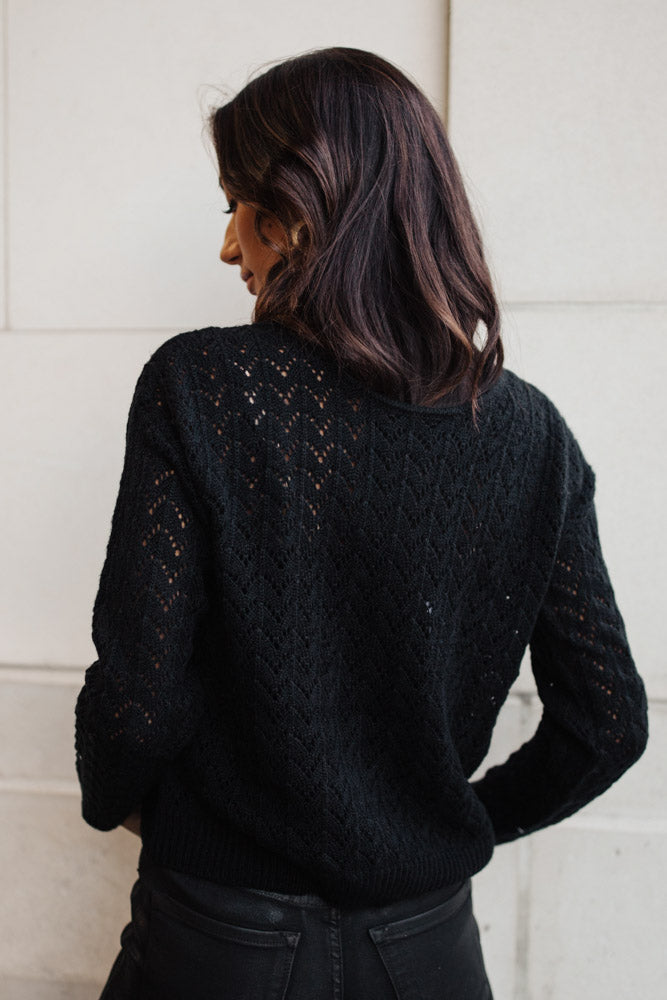 Serena Knit Sweater in Black - FINAL SALE