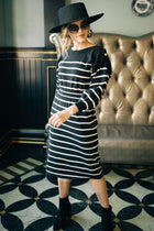 Wrong or Stripe Button Dress Bohme
