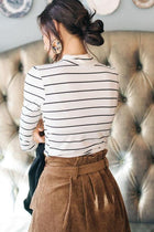 This Chic White and Black Mock Neck Top
