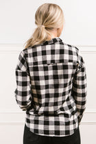 Oaklyn Plaid Button Down in Black - FINAL SALE