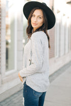 Rayne Button Side Sweater