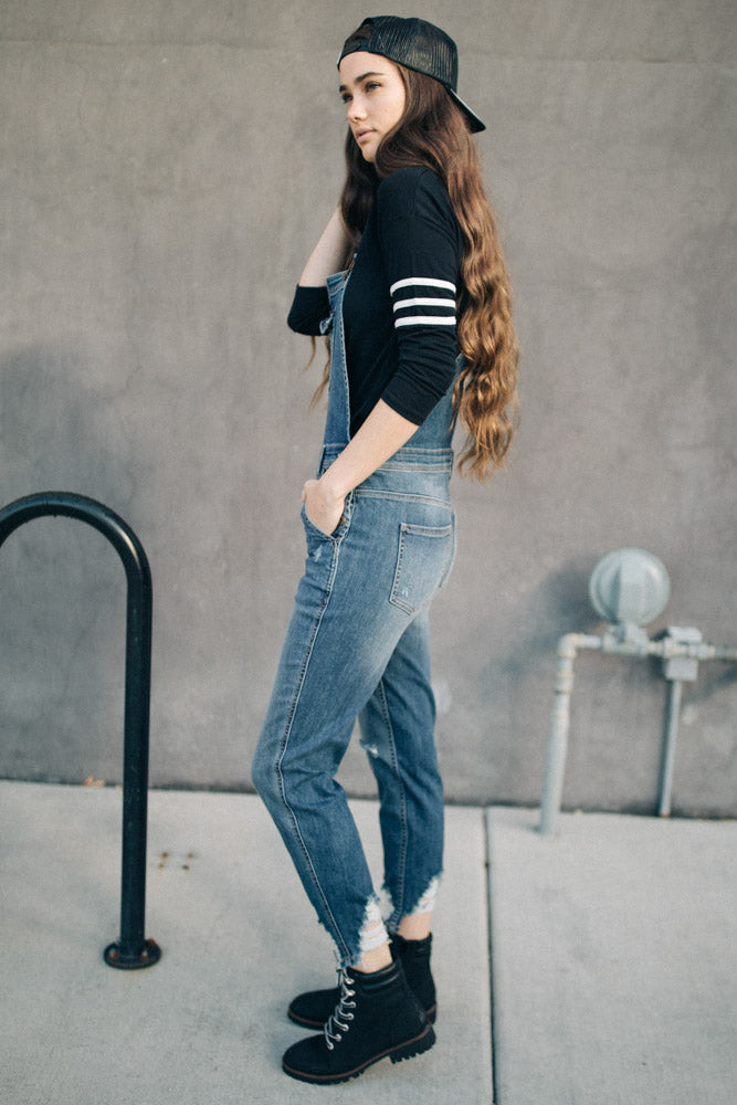 Tristan Denim Overalls - FINAL SALE