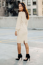 Rae Sheath Dress in Cream