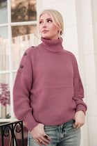 Aurora Button Sweater in Rose - FINAL SALE