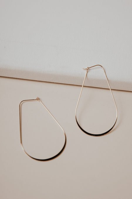 Tear Drop Earrings in Gold