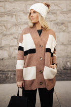 Kaylee Color Block Cardigan - FINAL SALE