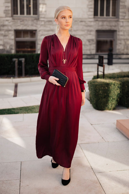 Adella Long Sleeve Maxi Dress - FINAL SALE
