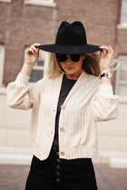 Maggie Button Front Cardigan in Cream - FINAL SALE
