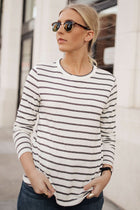 Victoria Striped Long Sleeve Tee - FINAL SALE