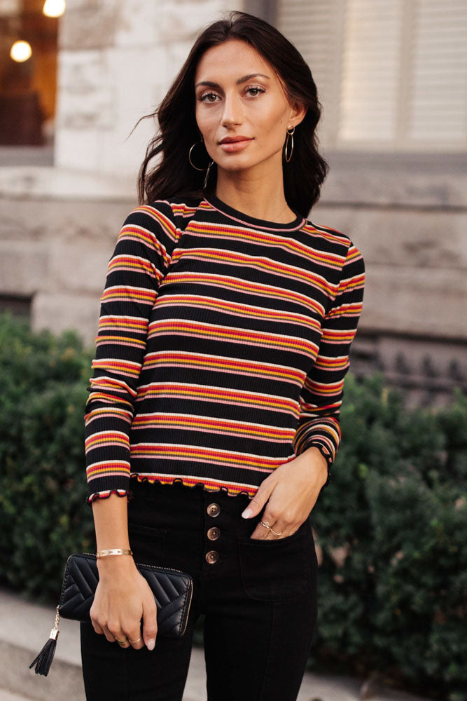 Delila Striped Top