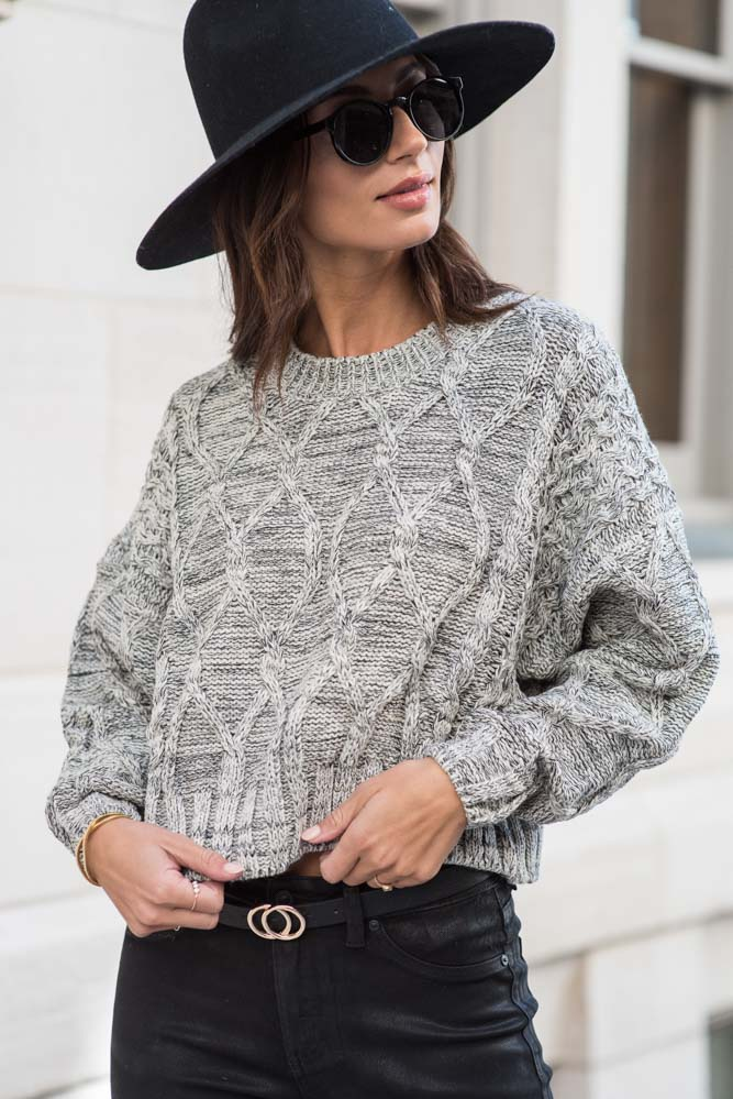 Hannah Cable Knit Sweater in Ivory - FINAL SALE