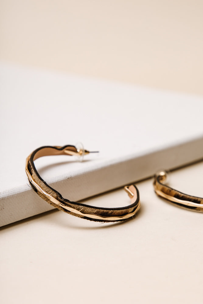Gold Ring Leopard Hoops