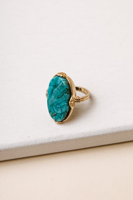 Bourgeois Art Deco Ring in Turquoise