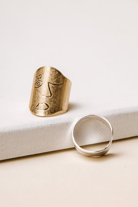 Face to Face Ring Set