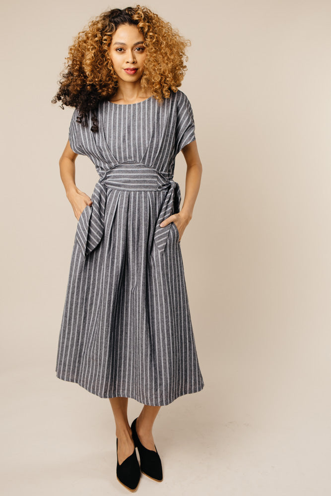 tie side dress bohme