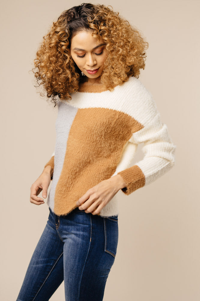 Off The Clock Color Block Sweater-FINAL SALE