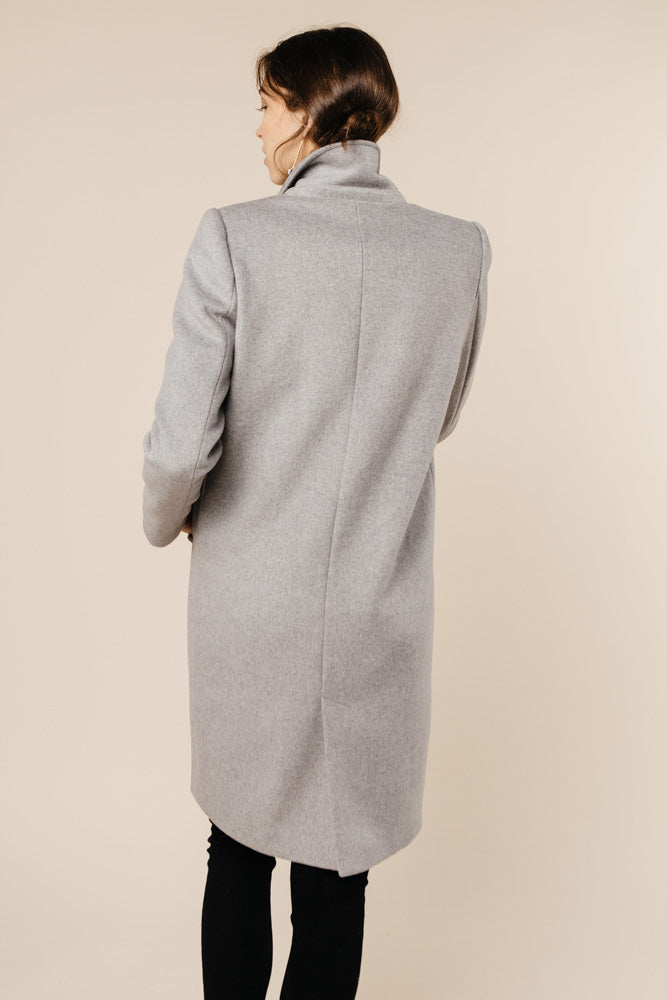 London Wool Coat in Grey