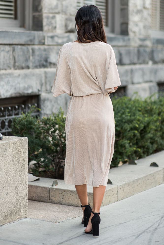Eileen Knotted Dress in Gold