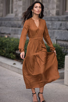 Diana Midi Dress in Spice