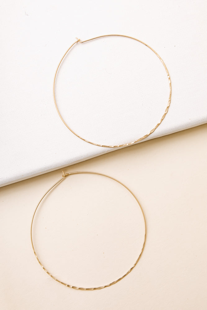 Over Sized Textured Hoops