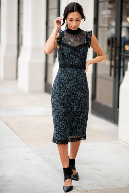 Elodie Lace Midi Dress-FINAL SALE