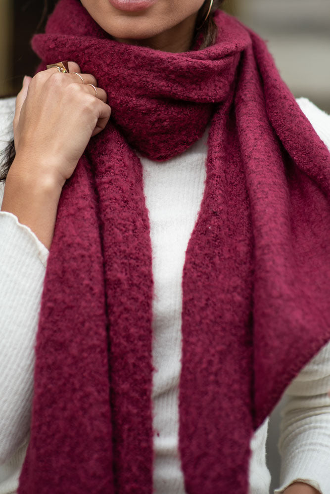 C.C. Scarf in Burgundy