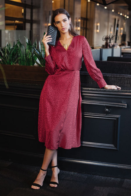 Adele Faux Wrap Dress-FINAL SALE