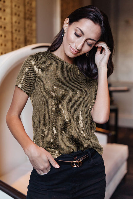 Cecile Sequin Top