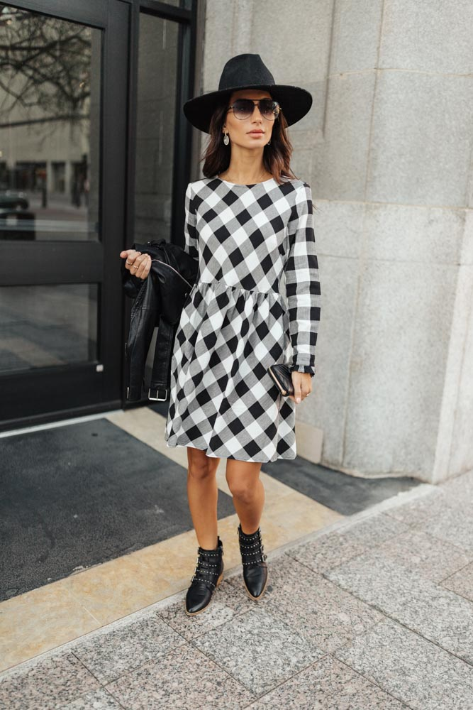 Denise Plaid Dress