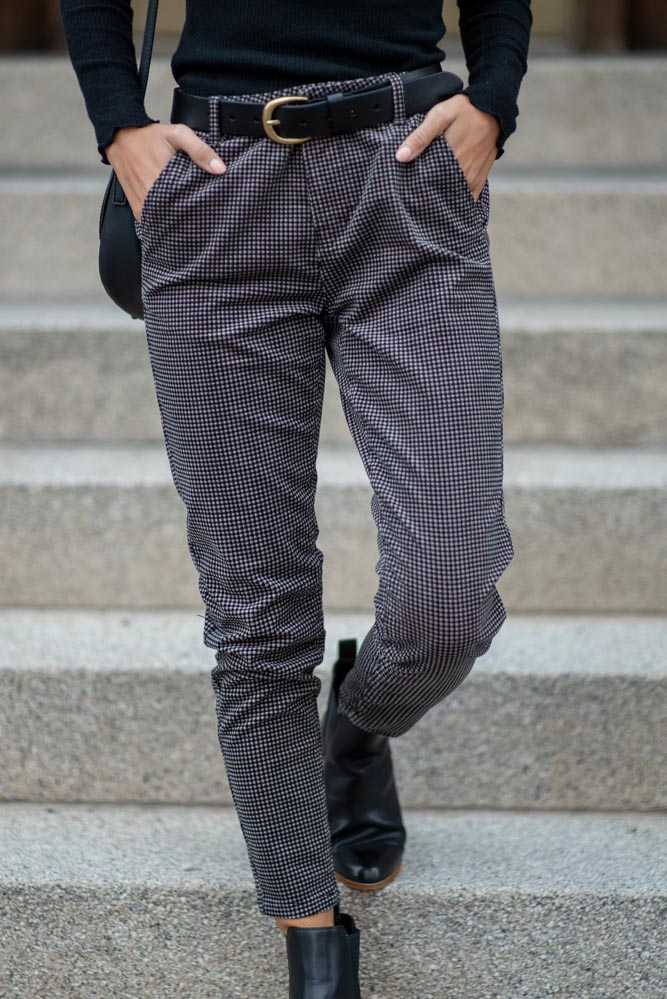 Courtney Houndstooth Trousers-FINAL SALE