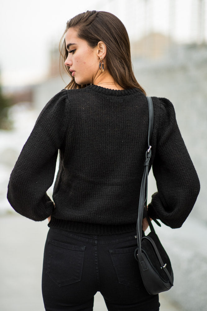 Vero Moda Annie Knit Sweater in Black