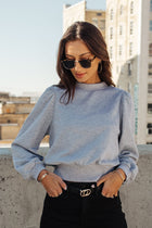 Mick Puff Shoulder Sweatshirt in Grey