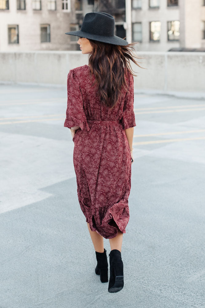 Kathryn Printed Midi Dress