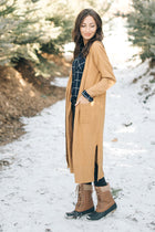 Eyes Wide Open Knit Cardigan in Mustard
