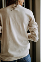 Side Cinched Sweater in Cream