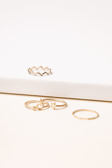 Four Ring Set in Gold