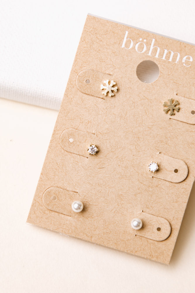 Snowy Day Stud Earring Set