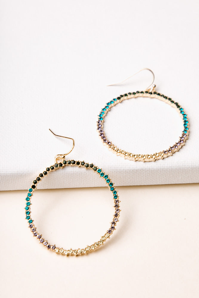 Crystalized Hoops in Color
