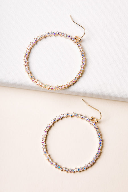 Crystalized Hoops