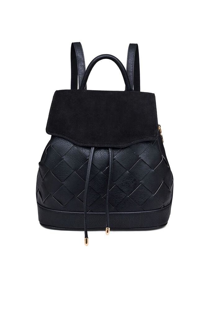 Blakely Braided Backpack in Black - Bohme