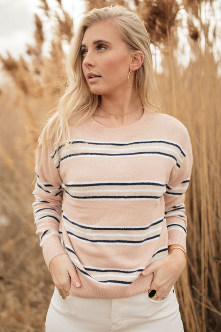 Diane Striped Crew Neck Sweater