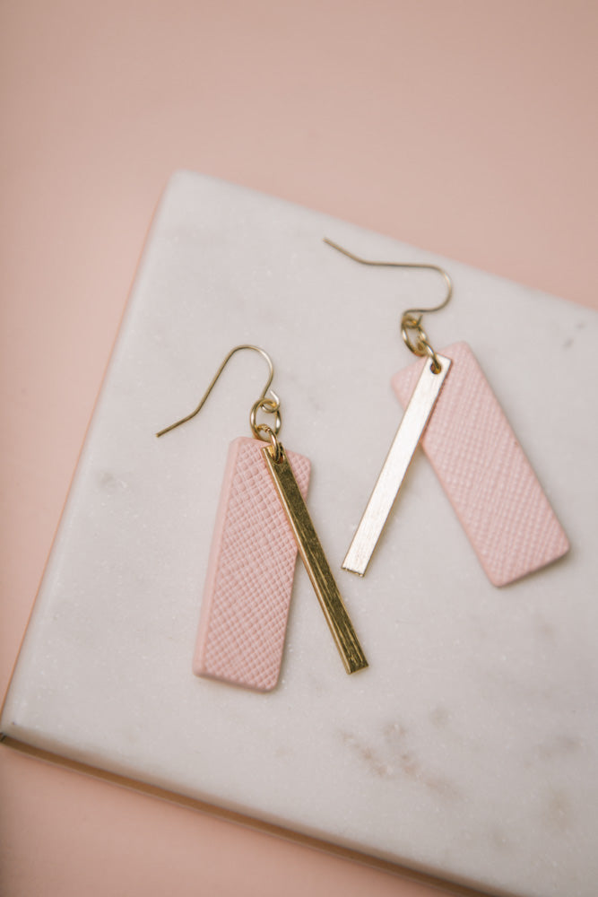 pink earrings bohme