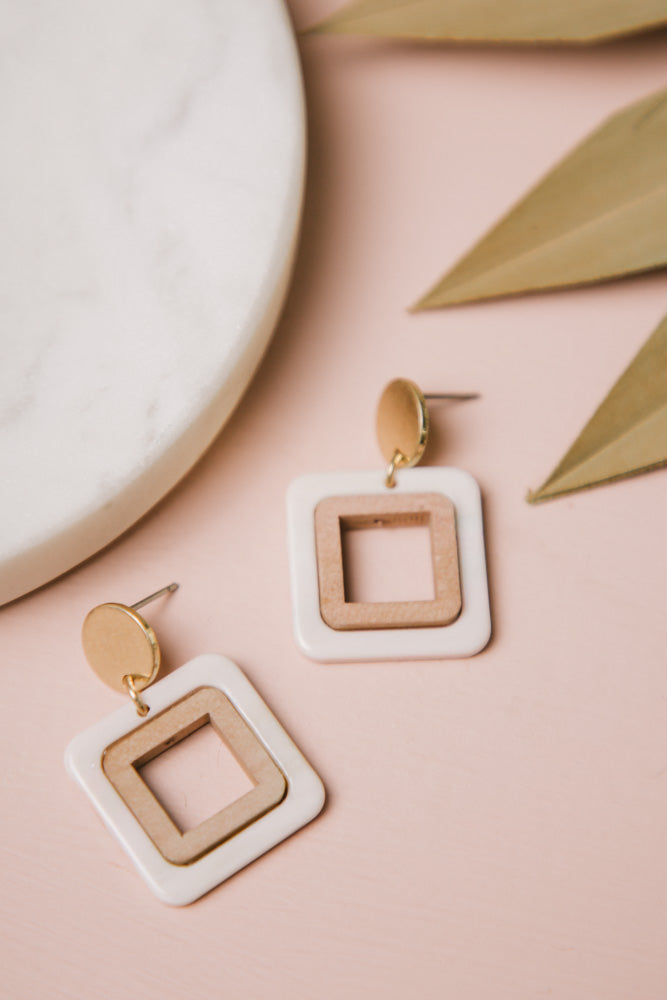 square earrings bohme