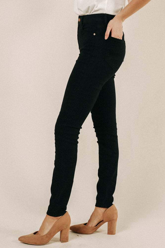 Bohme Regular High Rise Black Denim