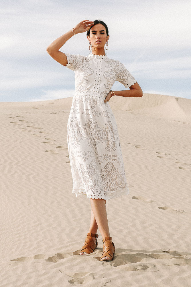 Grace Lace Dress in White